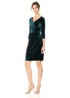Betsey Johnson Women's Velvet Wrap Dress