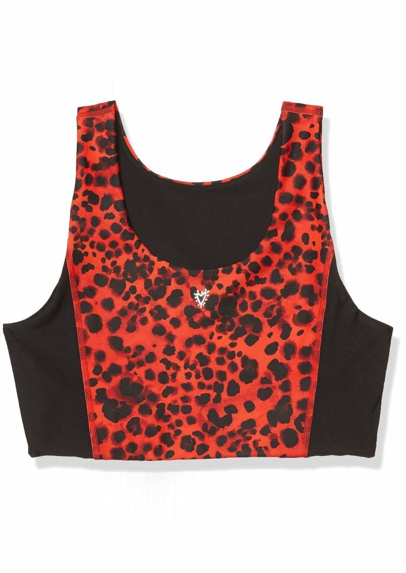 Betsey Johnson Women's Water Leopard Striped Longline Bra