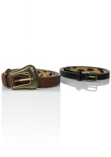 Betsey Johnson Women's Western Two-For-One Belt