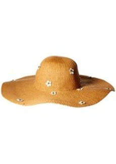 Betsey Johnson Women's Wide Brim Floppy Daisy Hat