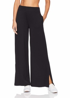 Betsey Johnson Women's WIDE LEG PANT WITH SIDE SLITS    LARGE
