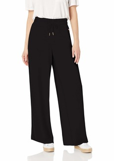 Betsey Johnson Women's Wide Leg Pant with Side Stripes  Extra Small