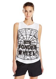 Betsey Johnson Women's Wonder Wheel High Low Muscle Tank  L