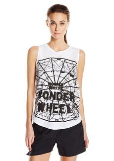 Betsey Johnson Women's Wonder Wheel High Low Muscle Tank  M