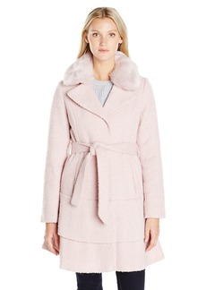 Betsey Johnson Women's Wool Skirted Coat  L
