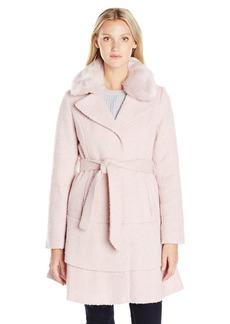 Betsey Johnson Women's Wool Skirted Coat  S