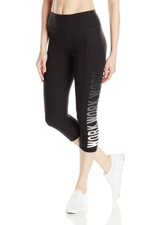 Betsey Johnson Women's Work Logo Crop Legging  L