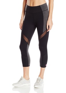 Betsey Johnson Women's Wrap Around Mesh Colorblock Crop Legging  XS