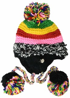 Betsey Johnson Women's Xtra Haute Patchwork Earflap Hat