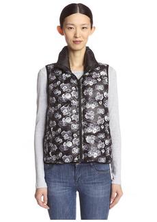 Betsey Johnson Women's Y129110 Reversible Puffer Vest