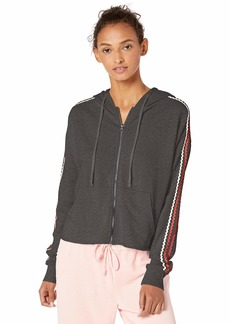 Betsey Johnson Women's Zig Zag Stripe Cutoff Jacket  Extra Large
