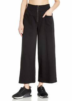Betsey Johnson Women's Zip Front High Waisted Crop Pant  Extra Small