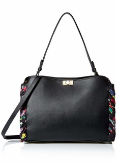 Betsey Johnson Wrapped Up in You 2 Satchel Bag black