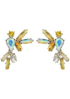 Yellow and Gold Bird Stud Earrings