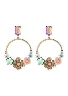 Blooming Flower Hoop Earrings