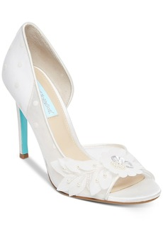Blue by Betsey Johnson Anise Peep-Toe d'Orsay Evening Pumps Women's Shoes