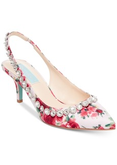 Blue by Betsey Johnson Cici Pointed-Toe Slingback Evening Pumps Women's Shoes