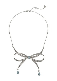 Blue by Betsey Johnson La La Bow Necklace