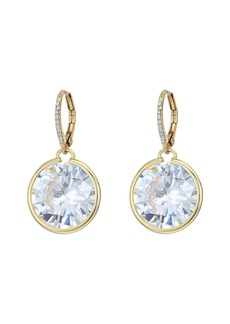 Blue by Betsey Johnson Large Cubic Zirconia Stone Drop with Accents and Details Earrings