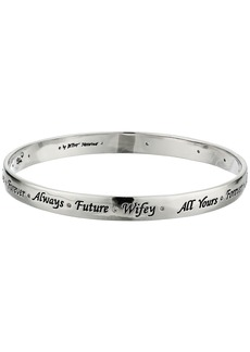 Blue by Betsey Johnson S Bangle with Delicate Accents and Sayings including, 'Always', 'Future', 'Wifey' and 'Forever'