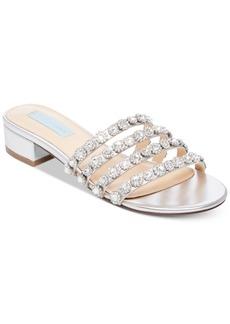 Blue by Betsey Johnson Sophi Embellished Slide Sandals Women's Shoes