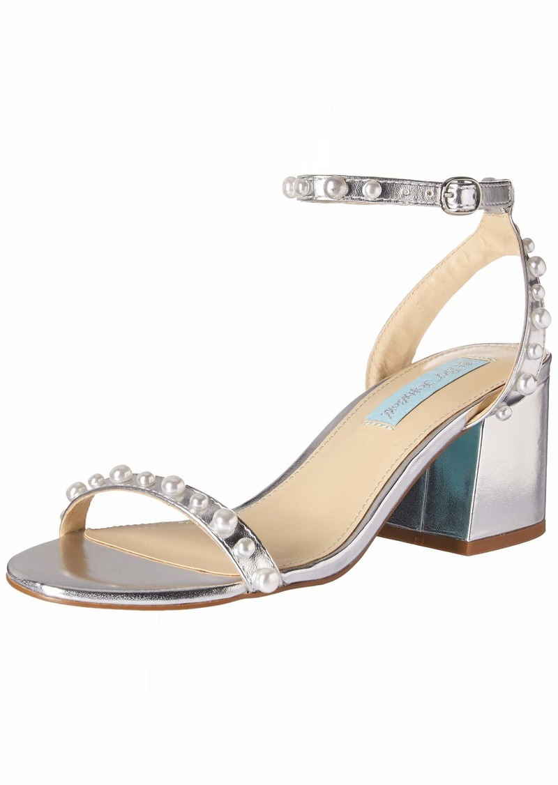 Betsey Johnson Blue Women's SB-Milli Heeled Sandal   M US