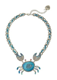 Blue Crab Pendant Necklace