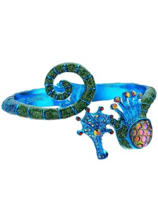 Betsey Johnson Blue Seahorse Bangle Bracelet