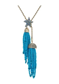 Blue Starfish and Tassel Necklace