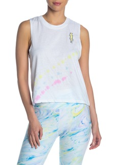 Betsey Johnson Bolt Graphic Tie-Dye Tank