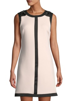 Betsey Johnson Bow-Shoulder Sleeveless Shift Dress