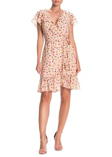 Betsey Johnson Bug Printed Wrap Dress