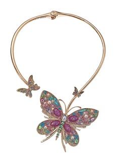 Betsey Johnson Butterfly Hinge Collar Necklace