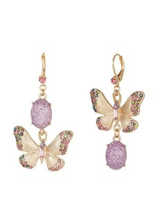 Betsey Johnson Butterfly Perfect Non-Matching Earrings