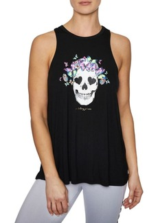 Betsey Johnson Butterfly Skull Racerfront Swing Tank Top