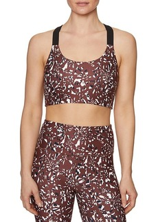 Betsey Johnson Camo Zebra-Print Sports Bra