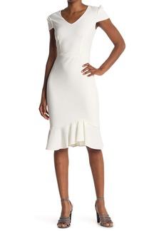 Betsey Johnson Cap Sleeve V-Neck Dress