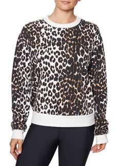 Betsey Johnson Capri Leopard Sweatshirt