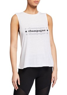 Betsey Johnson Champagne Star Swing Tank