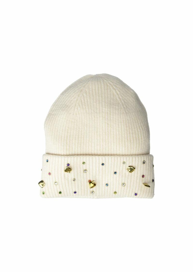 Betsey Johnson Charm School Cuff Hat
