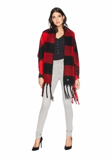 Betsey Johnson Checked Out Blanket Wrap