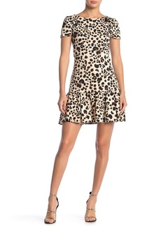 Betsey Johnson Cheetah Print Ruffle Hem Dress