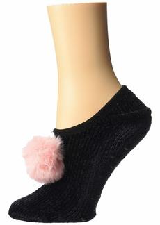 Betsey Johnson Chenille Slipper Socks w/ Pom