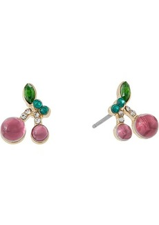 Betsey Johnson Cherry Stud Earrings