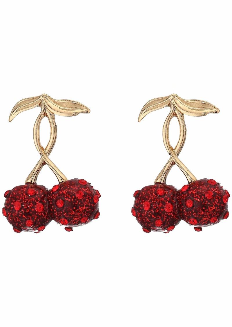 Betsey Johnson Cherry Stud Earrings Set