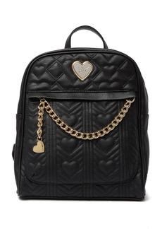 Betsey Johnson Chevron Heart School Backpack