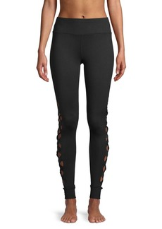 Betsey Johnson Classic Cut-Out Leggings