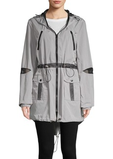 Betsey Johnson Classic Hooded Jacket