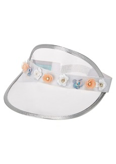 Clear with Flowers Visor
