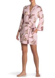 Betsey Johnson Cloud Bunny Print Knit Robe